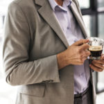 Man with a cup of coffee