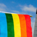 An LGBT+ Pride flag
