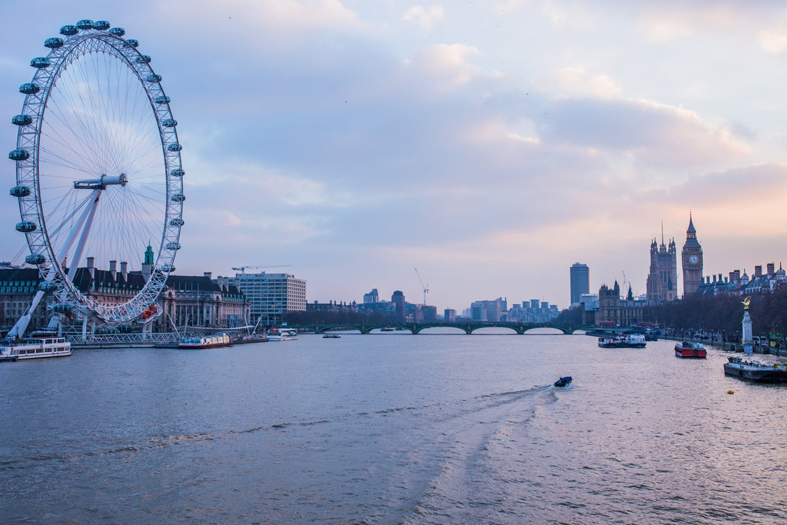 The River Thames, with the London Eye and Big Ben in view